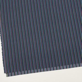 コットン×ストライプ(ブルー、レッド&ターコイズ)×ジャガード_全2色 サムネイル2
