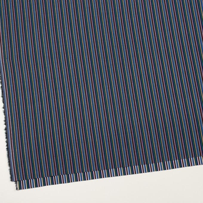 コットン×ストライプ(ブルー、レッド&ターコイズ)×ジャガード_全2色 イメージ2