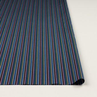 コットン×ストライプ(ブルー、レッド&ターコイズ)×ジャガード_全2色 サムネイル3