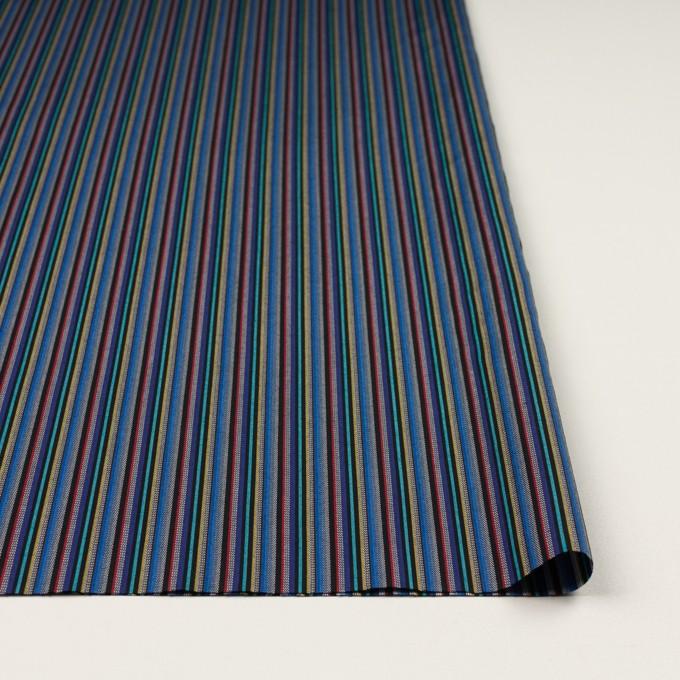 コットン×ストライプ(ブルー、レッド&ターコイズ)×ジャガード_全2色 イメージ3