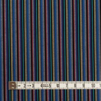 コットン×ストライプ(ブルー、レッド&ターコイズ)×ジャガード_全2色 サムネイル4