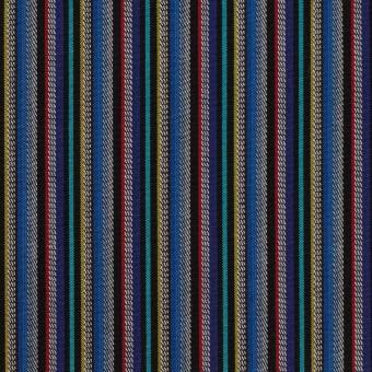 コットン×ストライプ(ブルー、レッド&ターコイズ)×ジャガード_全2色