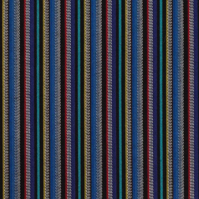 コットン×ストライプ(ブルー、レッド&ターコイズ)×ジャガード_全2色 イメージ1