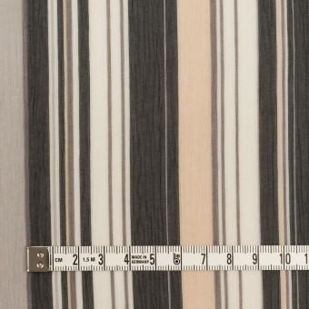 ポリエステル×ストライプ(ブラック、シルバー&ベージュ)×クレープジョーゼット サムネイル4