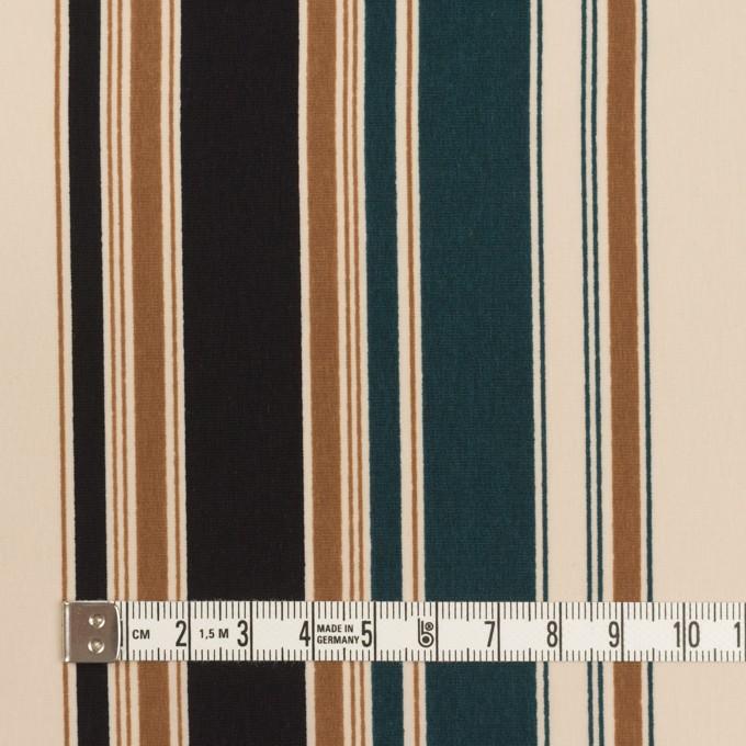 ポリエステル×ストライプ(キャメル、バルビゾン&ブラック)×デシン イメージ4