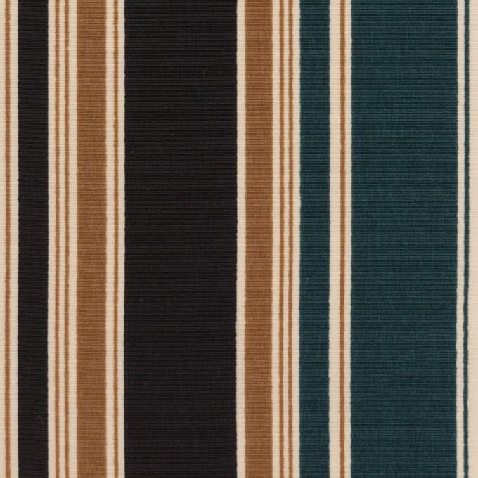 ポリエステル×ストライプ(キャメル、バルビゾン&ブラック)×デシン イメージ1