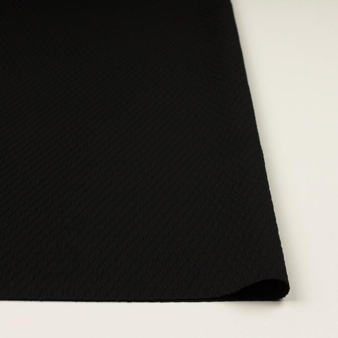 トリアセテート&ポリエステル×幾何学模様(ブラック)×フクレジャガード イメージ3