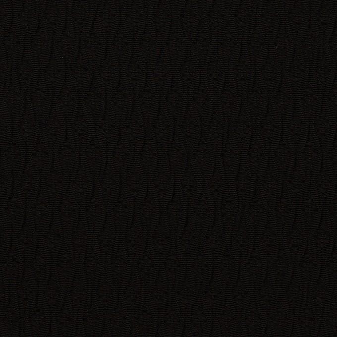 トリアセテート&ポリエステル×幾何学模様(ブラック)×フクレジャガード イメージ1