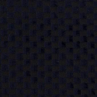 ポリエステル×スクエア(ネイビー)×グログラン・ジャガード_全2色
