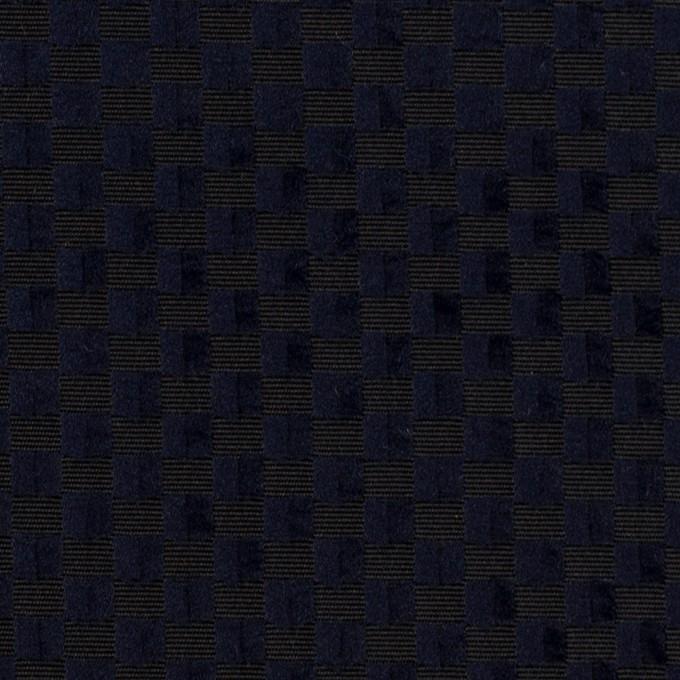ポリエステル×スクエア(ネイビー)×グログラン・ジャガード_全2色 イメージ1