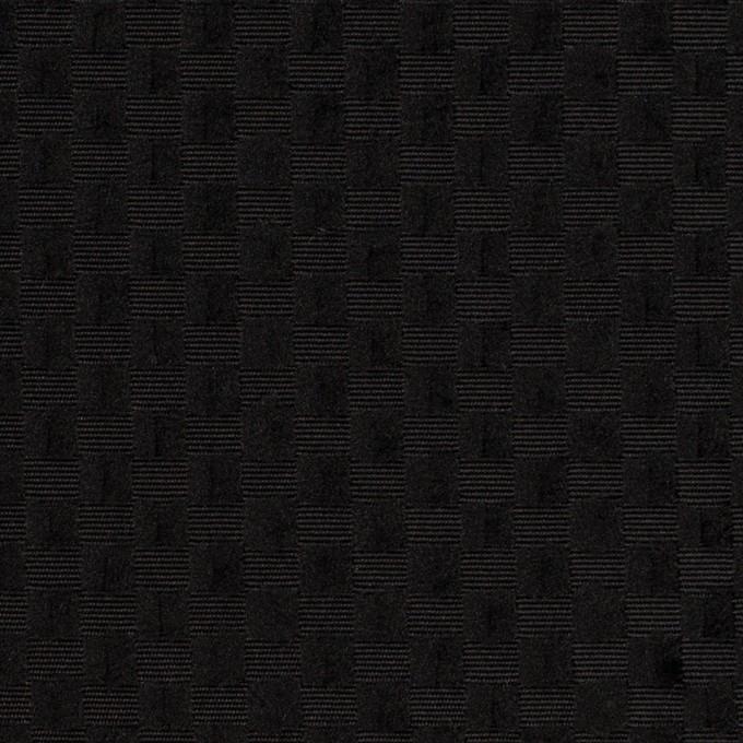 ポリエステル×スクエア(ブラック)×グログラン・ジャガード_全2色 イメージ1