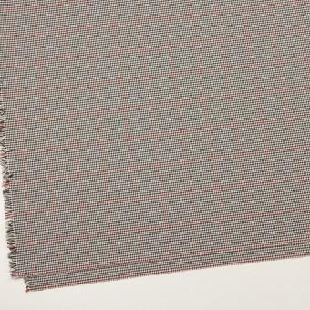 ポリエステル&ポリウレタン×チェック(アイボリー&チャコール)×千鳥格子ストレッチ サムネイル2