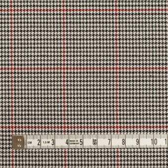 ポリエステル&ポリウレタン×チェック(アイボリー&チャコール)×千鳥格子ストレッチ サムネイル4