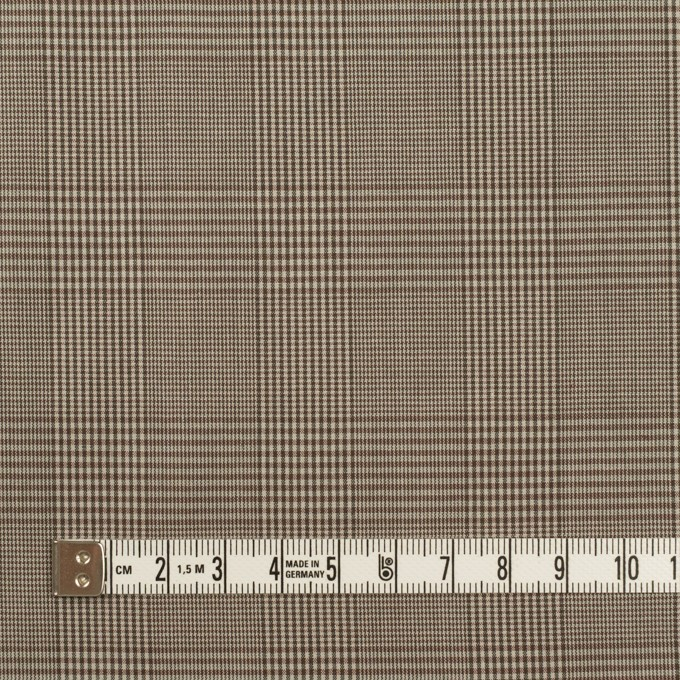 コットン×チェック(アッシュブラウン)×タイプライター(高密ローン) イメージ4