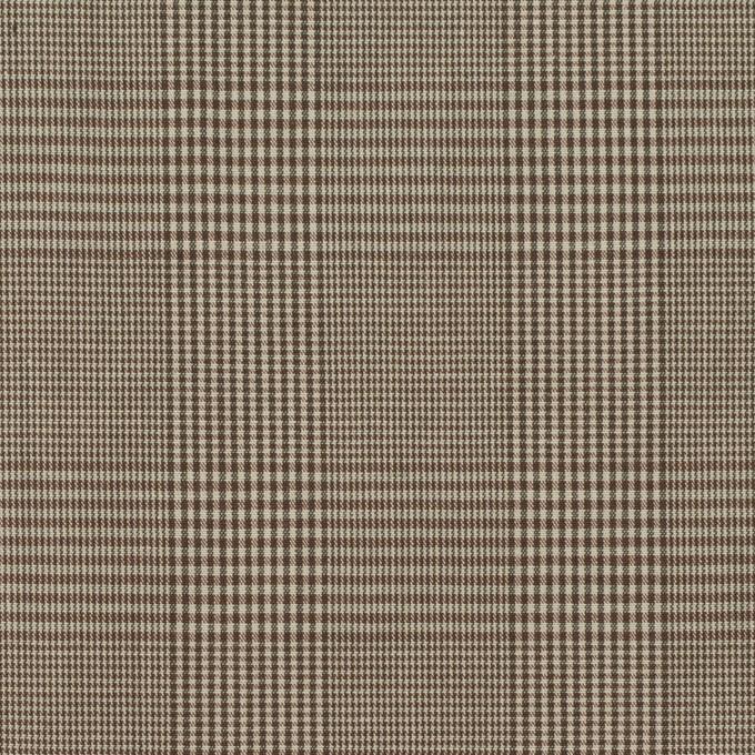 コットン×チェック(アッシュブラウン)×タイプライター(高密ローン) イメージ1