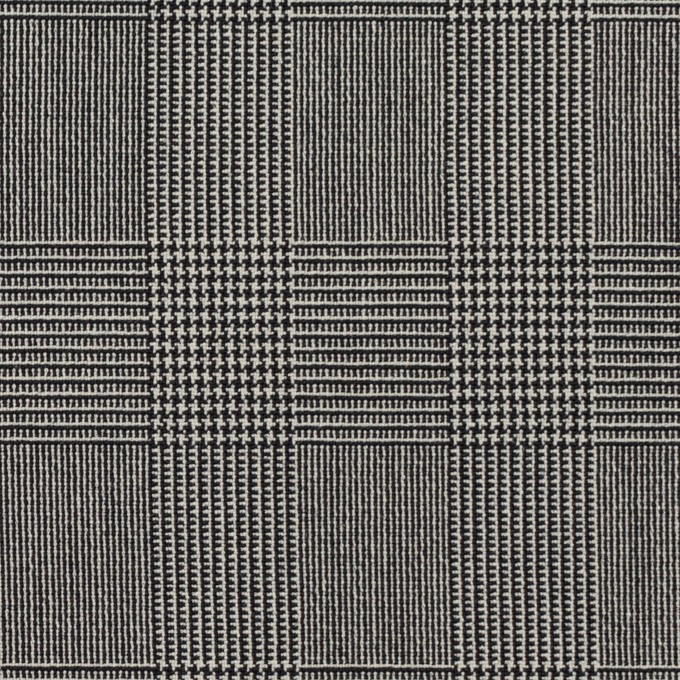 ポリエステル&レーヨン混×チェック(チャコール)×サージストレッチ イメージ1