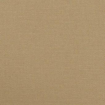 コットン&ポリウレタン×無地(カーキベージュ)×チノクロス・ストレッチ