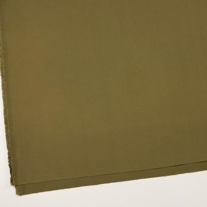 コットン×無地(カーキグリーン)×二重織 イメージ2