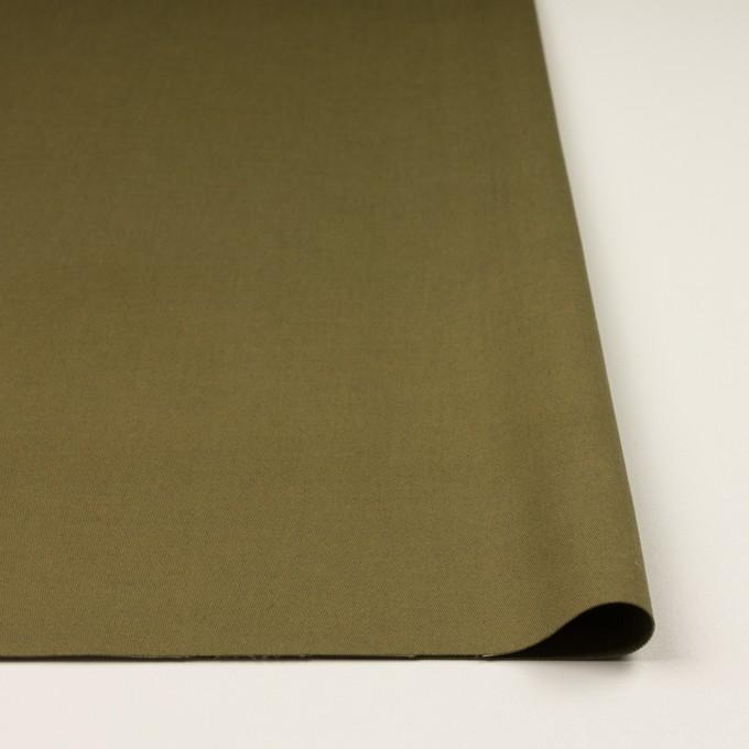 コットン×無地(カーキグリーン)×二重織 イメージ3