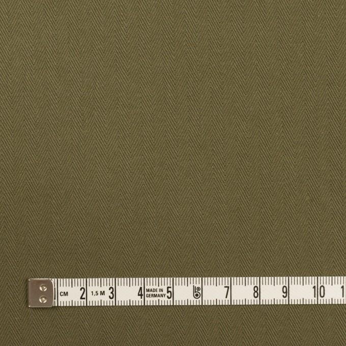 コットン×無地(アッシュカーキグリーン)×ヘリンボーン イメージ4