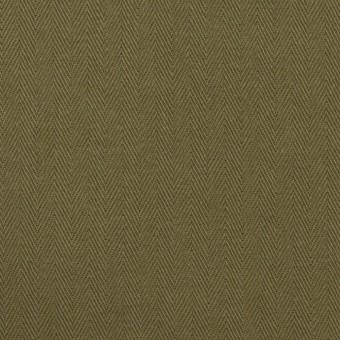 コットン×無地(アッシュカーキグリーン)×ヘリンボーン