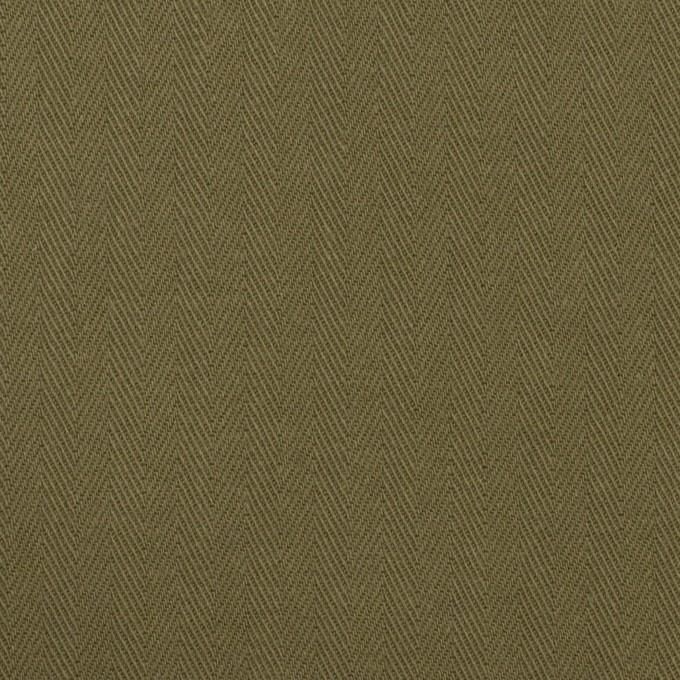 コットン×無地(アッシュカーキグリーン)×ヘリンボーン イメージ1