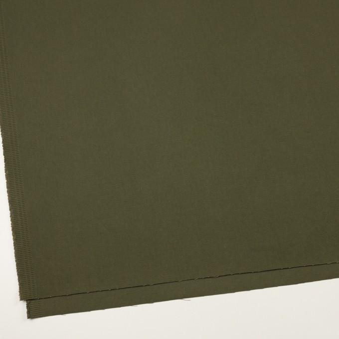 コットン×無地(ダークカーキグリーン)×二重織 イメージ2