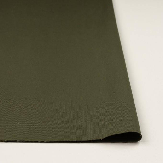 コットン×無地(ダークカーキグリーン)×二重織 イメージ3