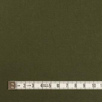コットン×無地(ダークカーキグリーン)×二重織 サムネイル4