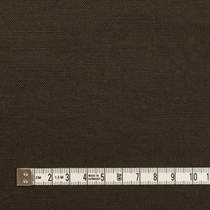 コットン×無地(ダークカーキブラウン)×キャンバス イメージ4
