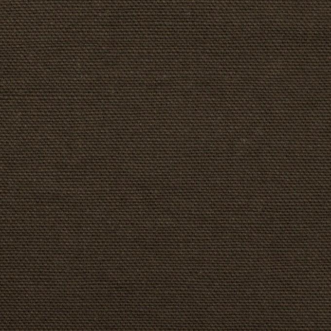コットン×無地(ダークカーキブラウン)×キャンバス イメージ1