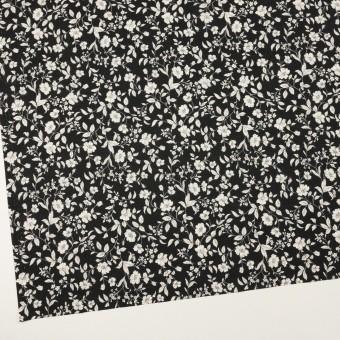 コットン×フラワー(ブラック&オフホワイト)×ローン_全2色 サムネイル2