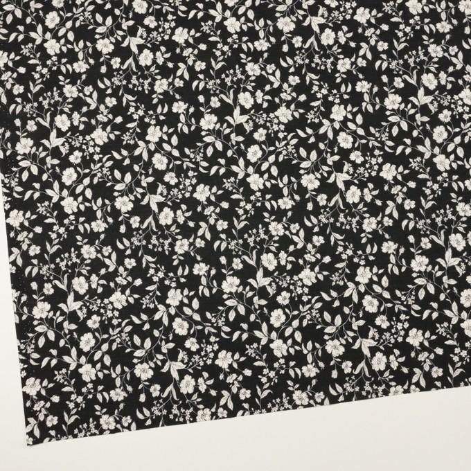 コットン×フラワー(ブラック&オフホワイト)×ローン_全2色 イメージ2