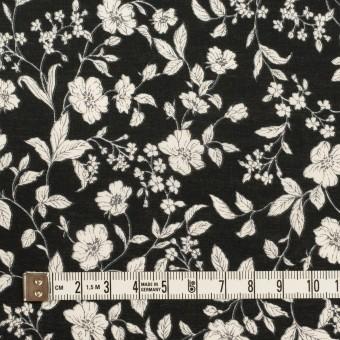コットン×フラワー(ブラック&オフホワイト)×ローン_全2色 サムネイル4