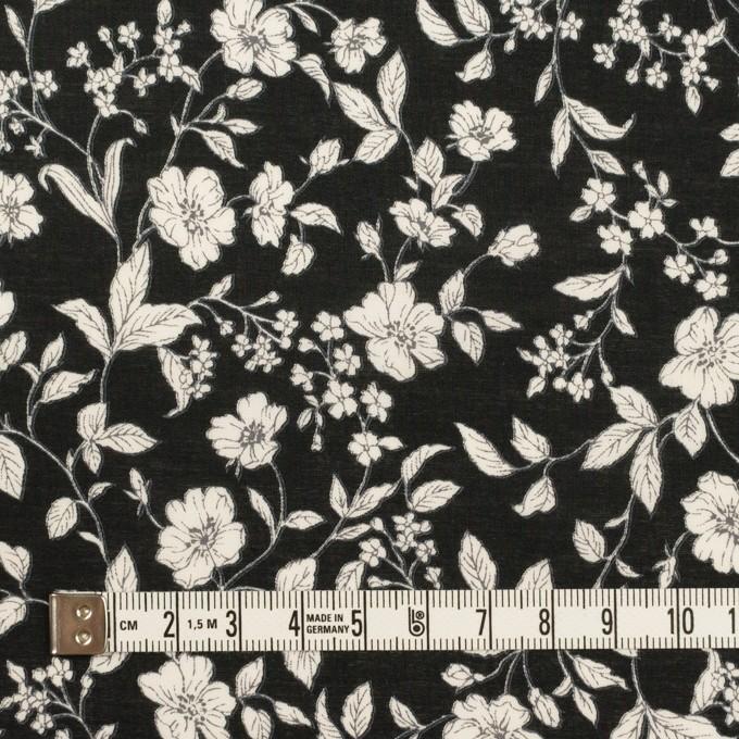 コットン×フラワー(ブラック&オフホワイト)×ローン_全2色 イメージ4