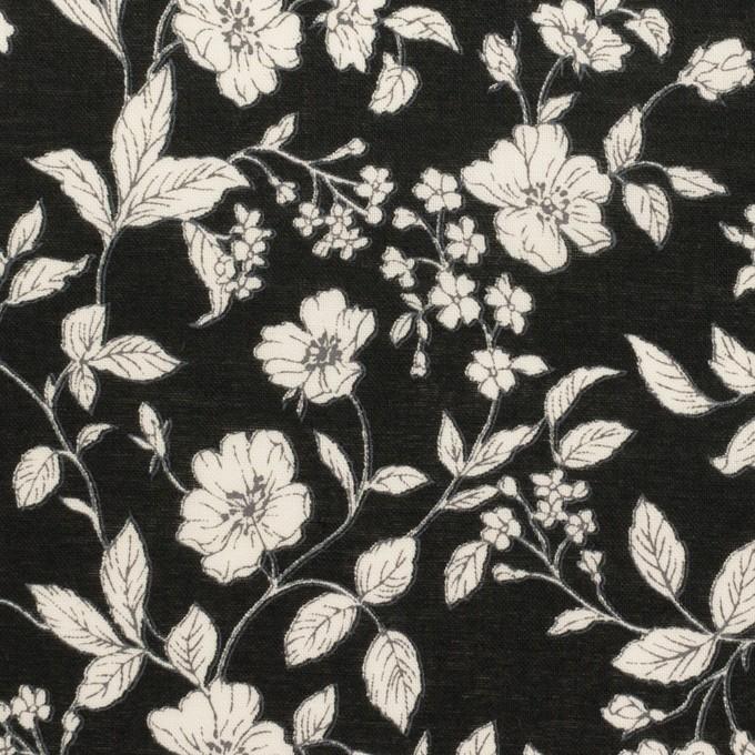 コットン×フラワー(ブラック&オフホワイト)×ローン_全2色 イメージ1