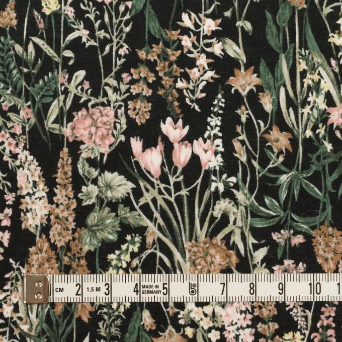 コットン×フラワー(ブラック、ピンク&モカ)×ローン イメージ4