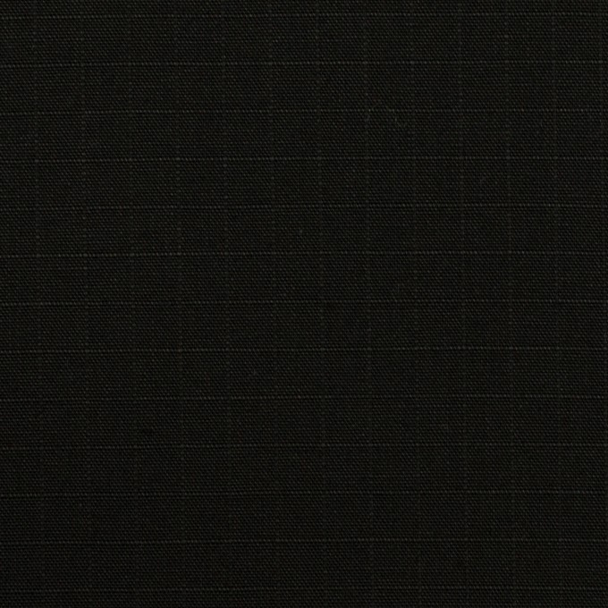 コットン×無地(ブラック)×リップストップ_全2色 イメージ1