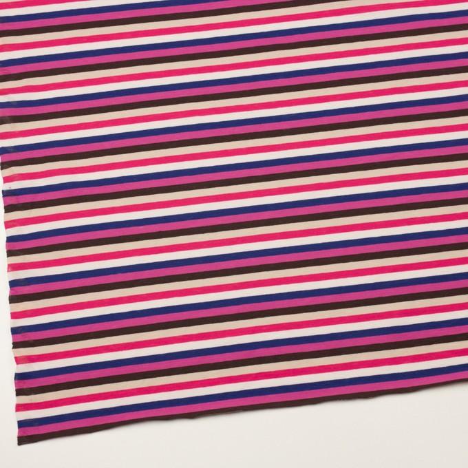 コットン×ボーダー(チェリーピンク、マリンブルー&ブラウン)×天竺ニット_全2色 イメージ2