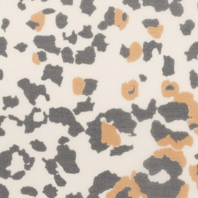 テンセル&シルク×レオパード(ベージュ&チャコール)×シフォン イメージ1
