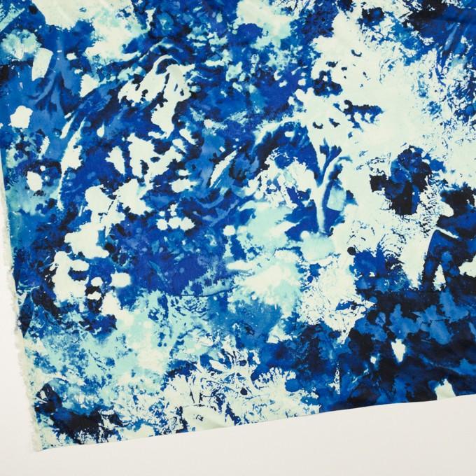 アセテート×ペイント(マリンブルー)×サテン イメージ2