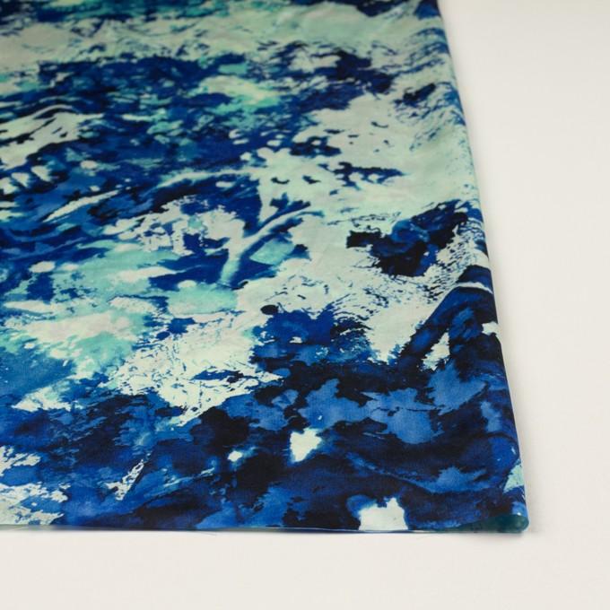 アセテート×ペイント(マリンブルー)×サテン イメージ3
