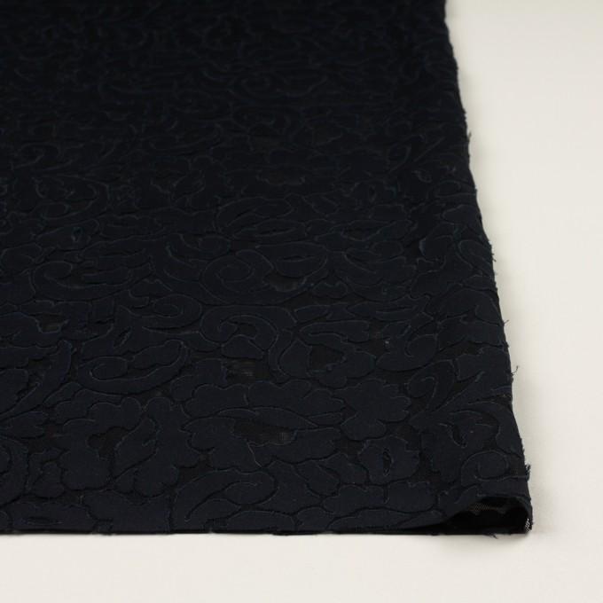 コットン&ポリエステル×幾何学模様(ダークネイビー&ブラック)×パワーネット(ボンディング) イメージ3