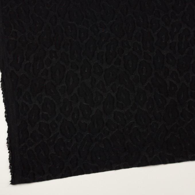ウール&ナイロン×レオパード(ブラック)×ジャガード イメージ2