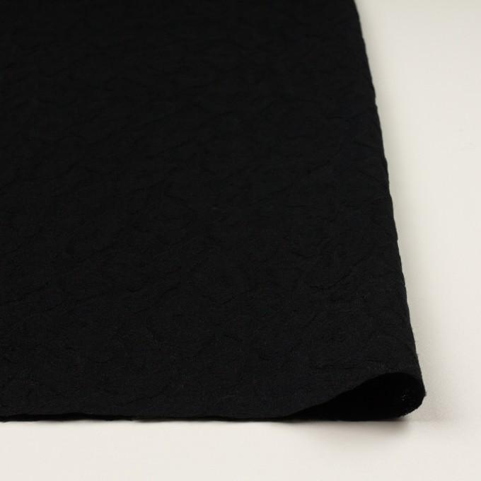 ウール&ナイロン×レオパード(ブラック)×ジャガード イメージ3