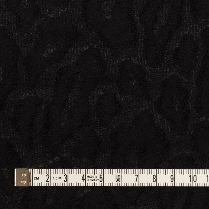 ウール&ナイロン×レオパード(ブラック)×ジャガード イメージ4