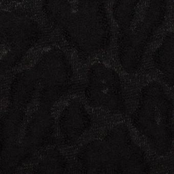 ウール&ナイロン×レオパード(ブラック)×ジャガード