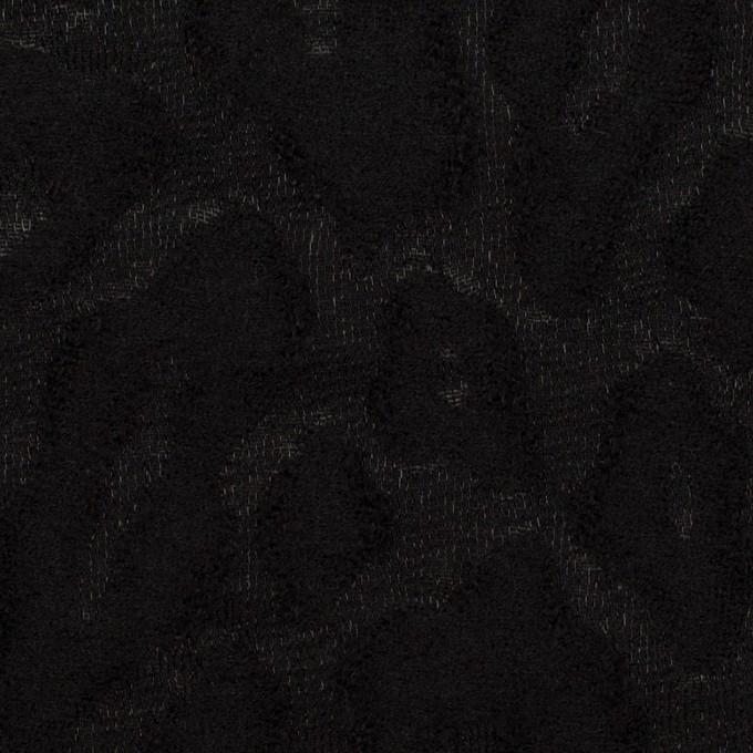 ウール&ナイロン×レオパード(ブラック)×ジャガード イメージ1