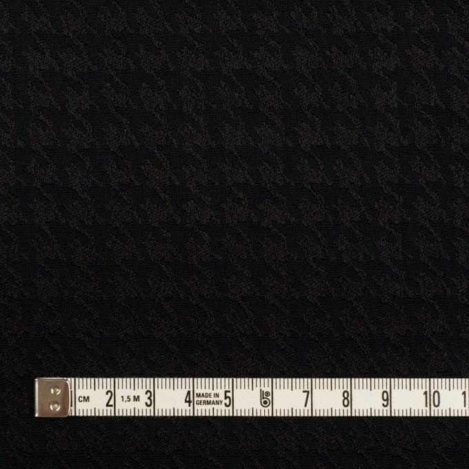 レーヨン×千鳥格子(ブラック)×二重織ジャガード イメージ4