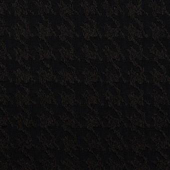 レーヨン×千鳥格子(ブラック)×二重織ジャガード